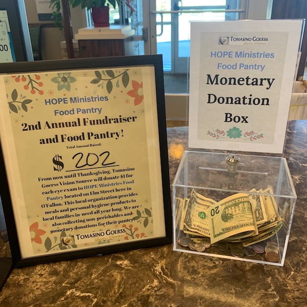 Image of HOPE Ministries Monetary donation bucket